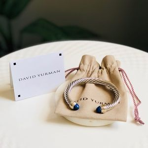 David Yurman Cable Bracelet Lapis Lazili Gold 7mm
